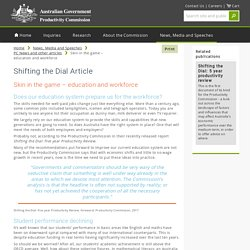 Skin in the game – education and workforce - Productivity Commission