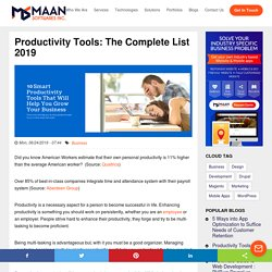 Productivity Tools: The Complete List (2019 Update)