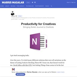 Productivity for Creatives – Marius Masalar