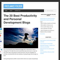 The 20 Best Productivity and Personal Development Blogs | Freel