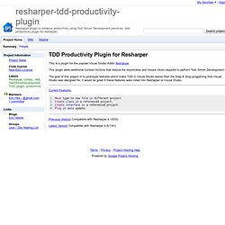 resharper-tdd-productivity-plugin - Google Code