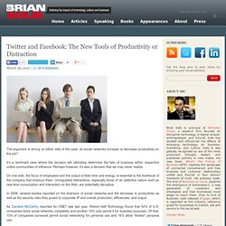 Twitter and Facebook: The New Tools of Productivity or Distracti