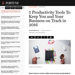 5 Productivity Tools For Entrepreneurs in 2016