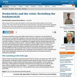 Did a productivity slowdown cause the financial crisis?