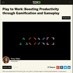 Play to Work: Boosting Productivity through Gamification and Gameplay