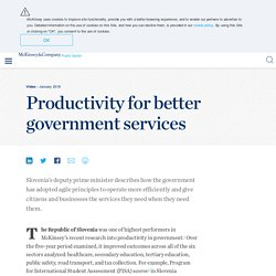 Productivity for better government services