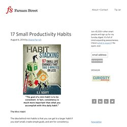 17 Small Productivity Habits