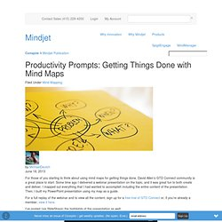Productivity Prompts: Getting Things Done with Mind Maps - via @Mindjet's Conspire #ideasquad