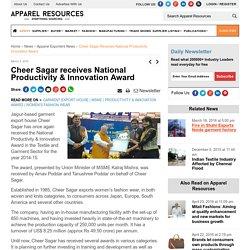 Cheer Sagar receives National Productivity & Innovation Award