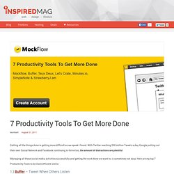7 Productivity Tools To Get More Done