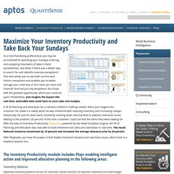 Inventory Productivity - Retail Business Intelligence
