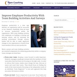 Improve Employee Productivity With Team Building Activities And Surveys