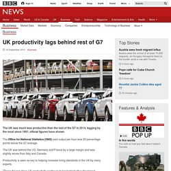 UK productivity lags behind rest of G7