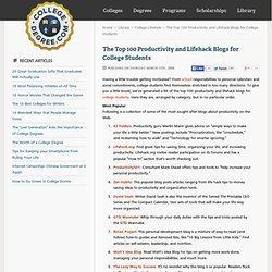 The Top 100 Productivity and Lifehack Blogs for College Students