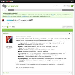 Using Evernote for GTD