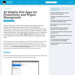 40 Helpful iPad Apps for Productivity and Project Management