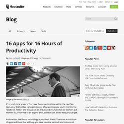 16 Apps for 16 Hours of Productivity
