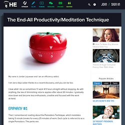 The End-All Productivity/Meditation Technique
