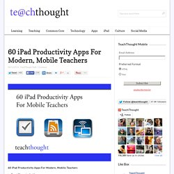 60 iPad Productivity Apps For Modern Teachers