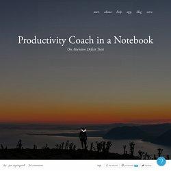 Sur la productivité de l'écrit vs clavier : Productivity Coach in a Notebook