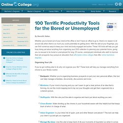 100 Terrific Productivity Tools for the Bored or Unemployed | Co