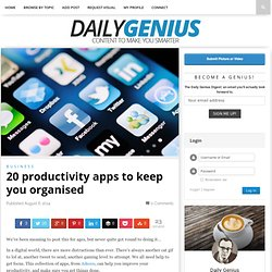 20 productivity apps to keep you organised