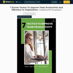 7 Proven Tactics To Improve Team Productivity And Efficiency In Organization PowerPoint Presentation - ID:10088583