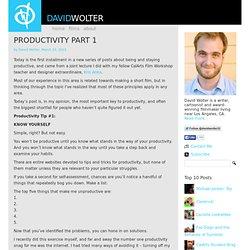 Productivity Part 1