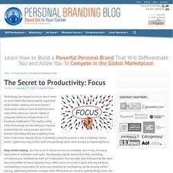 The Secret to Productivity: Focus
