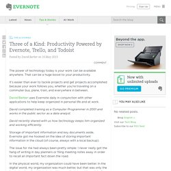 Three of a Kind: Productivity Powered by Evernote, Trello, and Todoist