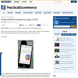 20 Best Mobile Productivity Apps of 2012