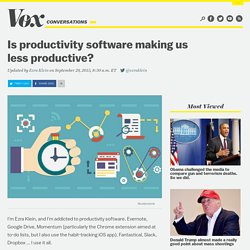 Is productivity software making us less productive?