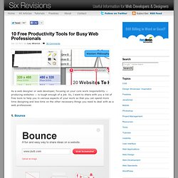10 Free Productivity Tools for Busy Web Professionals
