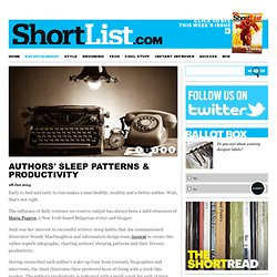 Authors' Sleep Patterns & Productivity - Books
