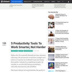 5 Productivity Tools To Work Smarter, Not Harder