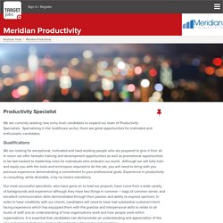 Immediate job at Meridian Productivity