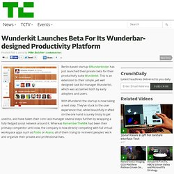 Wunderkit launches beta for its wunderbar-designed productivity platform