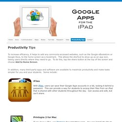 Google Apps for iPad