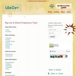 Big List of Online Productivity Tools