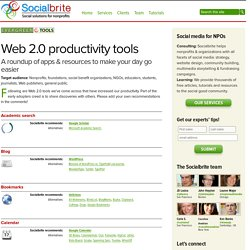Web 2.0 productivity tools | Socialbrite
