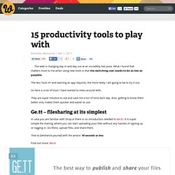 15 productivity tools to play with