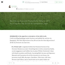 Become an Evernote Productivity Ninja in 2015 by using this Top 10 List of Companion Apps — The EverSteps Evernote University Press