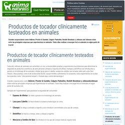 Productos de tocador clínicamente testeados en animales
