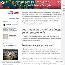 Lista de los 44 productos y servicios que ofrece Google