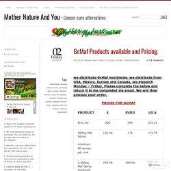 GcMaf Products available and Pricing.