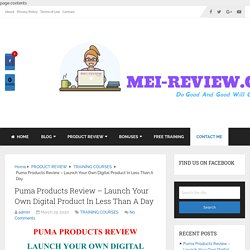Puma Products Review & Bonuses: Full Demo And OTO Details