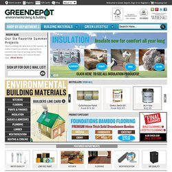 Green Products, Green Building Materials | Green Depot