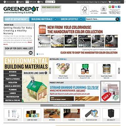 Green Building Supplies | Green Depot