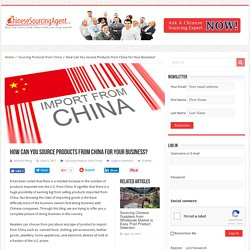 How Can You Source Products From China For Your Business?