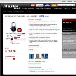 Products - Combination Padlocks - 1500eDBX - Master Lock®